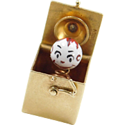 Vintage 14k Gold Jack In The Box Charm