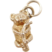 Vintage 9k Gold Koala Bear Charm