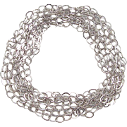 """Vintage Sterling Silver LONG Link Chain 100"""" (8'+)"""