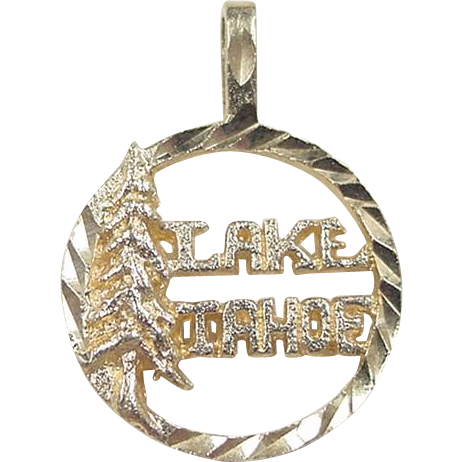Vintage 14k gold lake tahoe charm from arnoldjewelers on for Lake tahoe jewelry stores