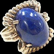 Vintage 14k Gold Lapis Lazuli Ring
