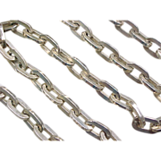 """CHUNKY Large Oval Link Sterling Chain Necklace 28"""" ~ 158.9 Grams"""