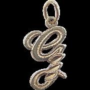 Vintage 14k Gold Letter G Charm