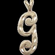 Vintage 14k Gold Letter G Charm / Pendant