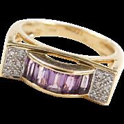 LeVian 18k Gold Amethyst and Diamond Ring