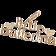 Vintage 14k Gold Little Ballerina Charm