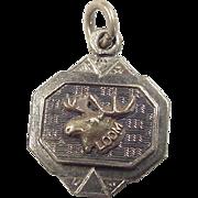 Vintage 10k Gold Loyal Order Of Moose Loom Charm