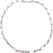 Sterling Silver Mother of Pearl Necklace ~ 18""