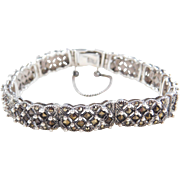 Sterling Silver Marcasite Bracelet ~