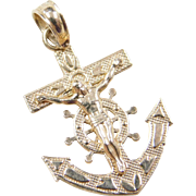 Vintage 14k Gold Mariners Cross Charm