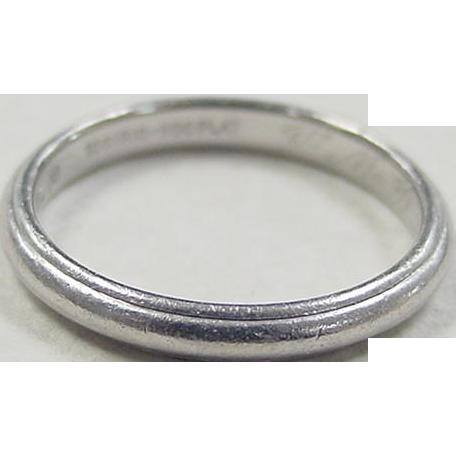 Vintage Platinum Mens Wedding Band Ring From Arnoldjewelers On Ruby Lane