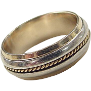 Vintage 14k Gold Two-Tone Gents Ring