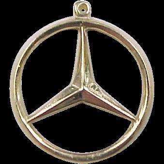 K Gold Mercedes Benz Charm