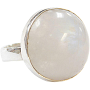 Vintage Sterling Silver Moonstone Ring