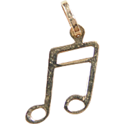 Vintage 14k Gold Music Note Charm