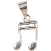 Vintage Sterling Silver Music Note Charm