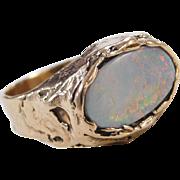 Vintage 14k Gold Natural Opal Ring