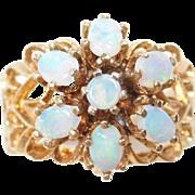 Vintage 14k Gold Opal Flower Ring