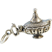 Sterling Silver Opening Genie Lamp Charm