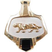 Vintage 14k Gold Two-Tone Jaguar / Panther Pendant