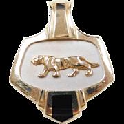 Vintage 14k Gold Two-Tone Jaguar / Panther Pendant