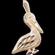 Vintage 14k Gold Pelican Charm