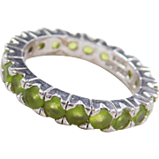 Sterling Silver Peridot Eternity Band Ring