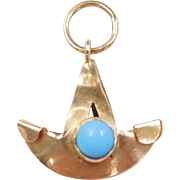 Vintage 14k Gold Persian Turquoise Charm
