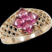 Vintage 14k Gold 1.40 ctw Pink Tourmaline Ring