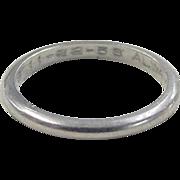 Vintage Platinum Band Ring