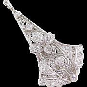 Art Deco Platinum .75 ctw Diamond Pendant