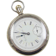 Vintage Base Metal Elgin Nat'l Watch CO. Pocket Watch