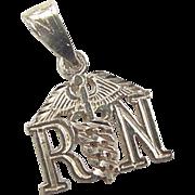Vintage 14k Gold Registered Nurse RN Charm