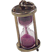 Vintage 14k Gold Sand Time Capsule Charm