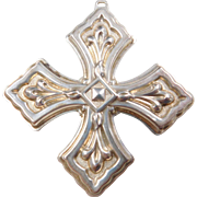 1981 Sterling Silver Reed & Barton Ornament ~ Christmas Cross