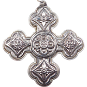 1971 Sterling Silver Reed & Barton Ornament ~ Christmas Cross