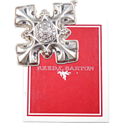 1976 Sterling Silver Reed & Barton Ornament ~ Christmas Cross