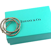 Retired Tiffany & Co Sterling Silver & 14k Gold Trinity Pin / Brooch