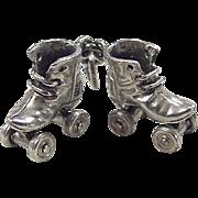 Vintage Sterling Silver Roller Skates Charm