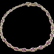"""Vintage 14k Gold 3.00 ctw Ruby Bracelet ~ 7 3/4"""""""