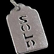 Vintage Sterling Silver SOLD Charm