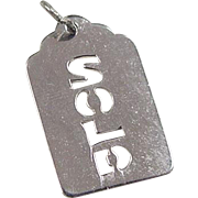 Vintage Sterling Silver SOLD Charm