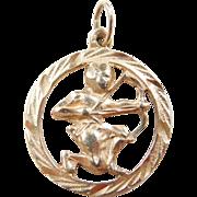 Vintage 14k Gold Sagittarius Zodiac Charm