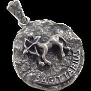 Vintage Sterling Silver SAGITTARIUS Pendant