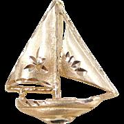 Vintage 14k Gold Sail Boat Charm
