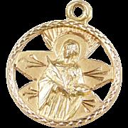 Vintage 18k Gold Saint Lucy Charm