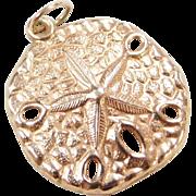 Vintage 14k Gold Sand Dollar Charm