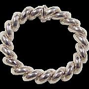 """Sterling Silver San Marco / Macaroni Bracelet 7 1/4"""""""