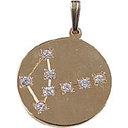 Vintage 14k Gold Faux Diamond Constellation Pendant