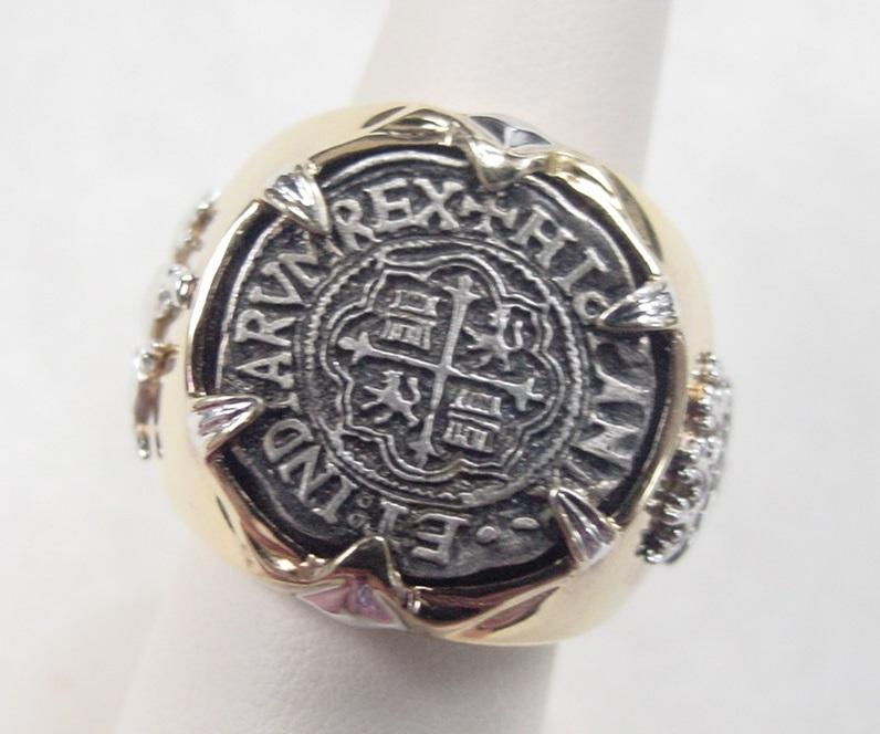 Vintage Sterling Silver Ship Wreck Ring Sao Jose 1622 From